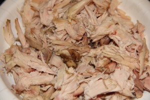 shredded smoked chicken